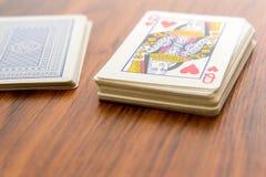 Jouant les cartes - reine des coeurs Image stock