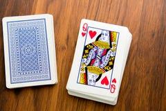 Jouant les cartes - reine des coeurs Images stock