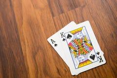 Jouant les cartes - vingt et un Images libres de droits