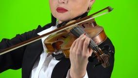 Jouant une fin de violon  Écran vert clips vidéos