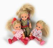 Joue des poupées Photo libre de droits