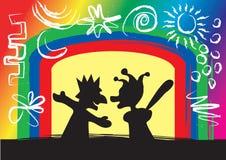 Joue la marionnette illustration libre de droits