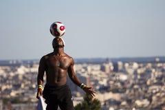 Jouer à Paris Photos stock