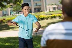 Jouer au badminton Photo libre de droits