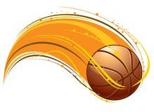 Jouer au basket-ball Images stock