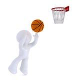 Jouer au basket-ball Image libre de droits