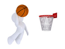 Jouer au basket-ball Image stock