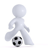 Jouer au football Image libre de droits