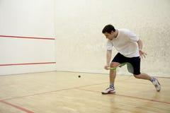 Jouer au squash Image stock