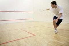 Jouer au squash Photographie stock