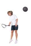 jouer au squash Images libres de droits