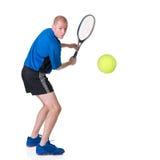 jouer au tennis Images stock