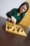 Jouer aux échecs photos stock