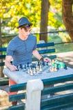 Jouer aux échecs Photographie stock libre de droits