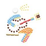 Jouer avec des bactéries Image stock