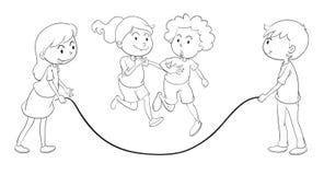Jouer d'enfants Images libres de droits