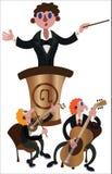 Jouer de directeur musical illustration stock