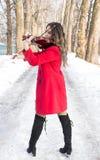 Jouer de fille violine Image libre de droits