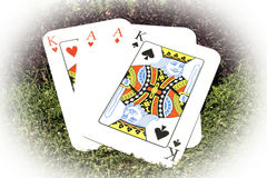 Jouer des as et des rois de cartes Photo libre de droits