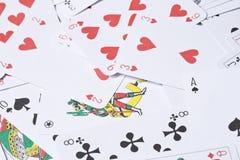 Jouer des cartes images stock