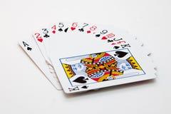 Jouer des cartes Photos stock