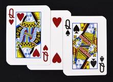 Jouer des cartes avec amour Images stock