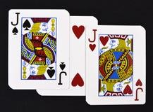Jouer des cartes avec amour Photo libre de droits