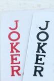 Jouer des cartes avec des jokers Photo stock