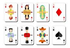 jouer des crêtes de bubi de cartes illustration libre de droits