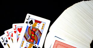 Jouer des crics de cartes image libre de droits