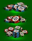 Jouer des puces de casino Photos stock