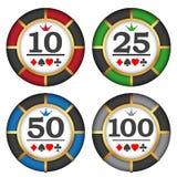 Jouer des puces de casino Photos libres de droits