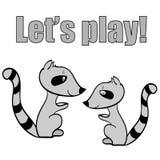 Jouer des ratons laveurs illustration stock