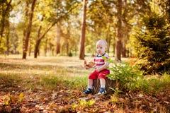 Jouer doux de bébé garçon Photos stock