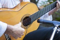 Jouer espagnol de guitariste de flamenco Photo libre de droits