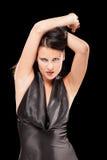 Jouer femelle séduisant avec son hair-2 Photo libre de droits