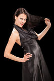 Jouer femelle séduisant avec son hair-3 Image libre de droits