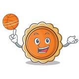 Jouer la bande dessinée de caractère de tarte de potiron de basket-ball illustration stock