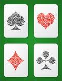 Jouer la carte adapte à l'ornamental Images stock