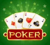 Jouer la carte Icônes de casino Symboles de tisonnier illustration de vecteur