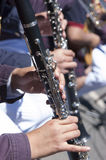 Jouer la clarinette Images stock