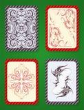 Jouer la conception de paquet de cartes Photos libres de droits