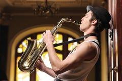 Jouer la musique géniale Images libres de droits