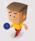 Jouer le bowling Photo libre de droits