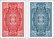 Jouer le côté de dos de cartes illustration stock