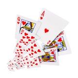 Jouer le casino de tisonnier de cartes Photographie stock
