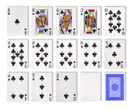Jouer le casino de tisonnier de cartes photo stock