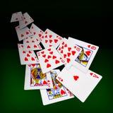Jouer le casino de tisonnier de cartes Images libres de droits