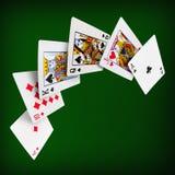 Jouer le casino de tisonnier de cartes Photos stock