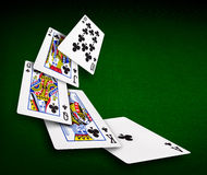 Jouer le casino de tisonnier de cartes photographie stock libre de droits